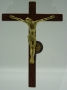 Croix bois et bronze