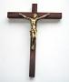 Croix bronze sur palissandre Christ Louis XIV